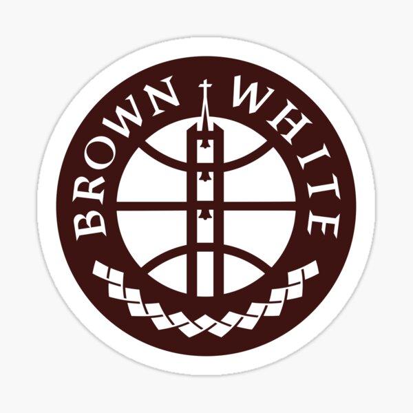 Brown & White Sticker