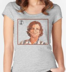 Kyle Mooney Illustrated Potrait Women's Fitted Scoop T-Shirt