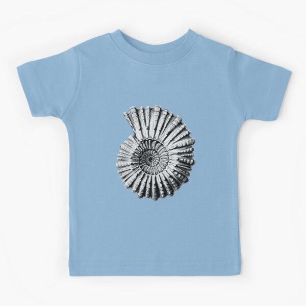Vintage Ammonite Spiral Fossil Kids T-Shirt