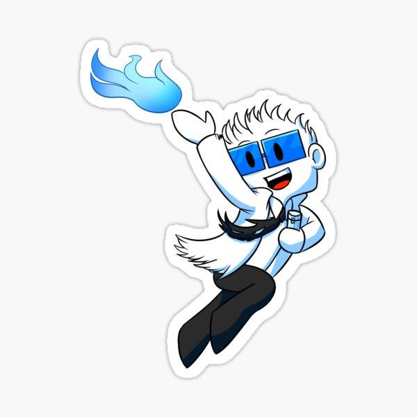 Flo the Burning Doctor Sticker