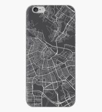 Amsterdam Map, Niederlande - Grau iPhone-Hülle & Cover