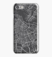 Amsterdam Map, Netherlands - Gray iPhone Case/Skin