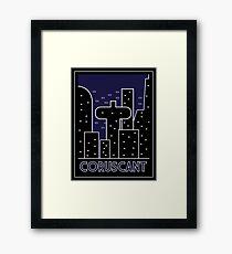Coruscant Art Deco Framed Print