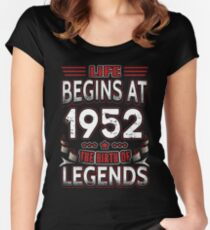 Life Begins At 64 - 1952 The Birth Of Legends T-Shirt Women's Fitted Scoop T-Shirt