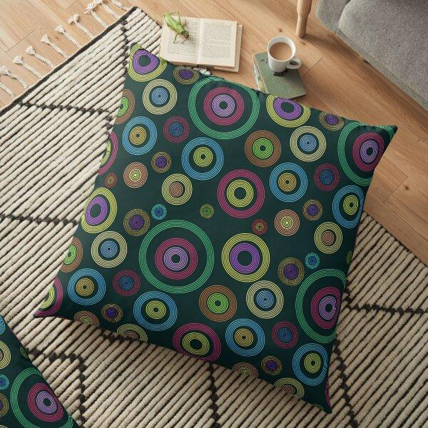 Bokeh Abstract Art Floor Pillow