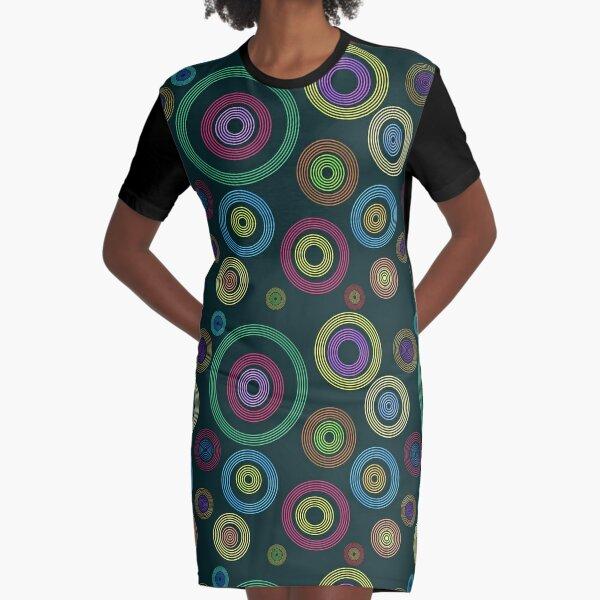 Bokeh Abstract Art Graphic T-Shirt Dress