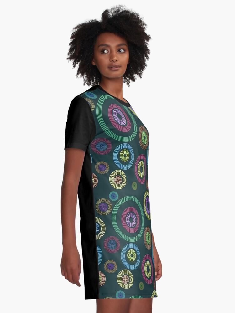 Alternate view of Bokeh Abstract Art Graphic T-Shirt Dress
