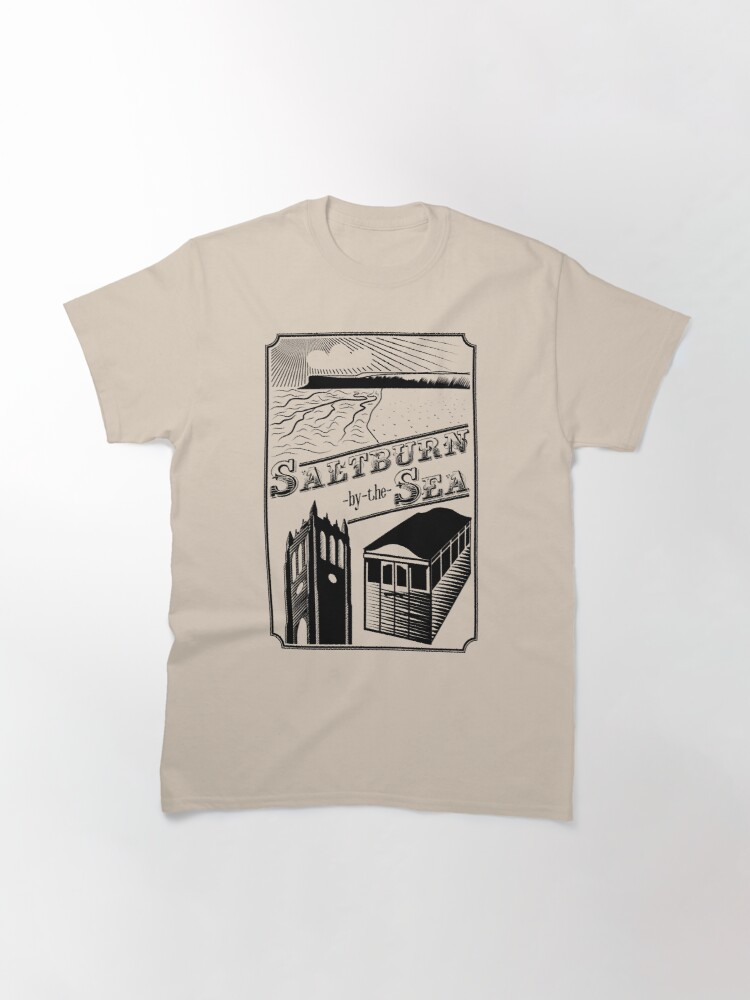 Alternate view of NDVH Saltburn-by-the-Sea stamp Classic T-Shirt