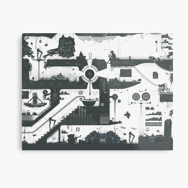 Vector Doodle 12 (Updated) Metal Print