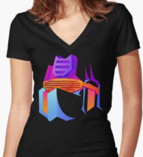 Retro Soundwave Women's Fitted V-Neck T-Shirt