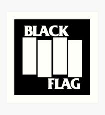 Black Flag Band Art Print