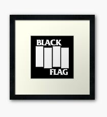 Black Flag Band Framed Print