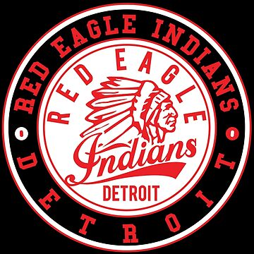 Red Eagle Indians Detroit Ice Hockey by huliodoyle