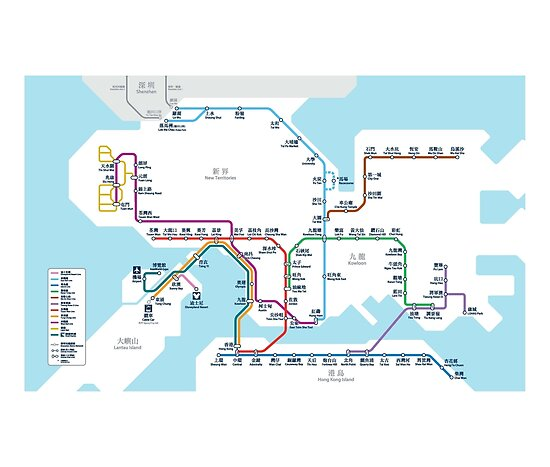 Hong Kong MTR Karte 2016 von lordgolani