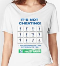 Funny poke at the laws of Rugby Union Women's Relaxed Fit T-Shirt