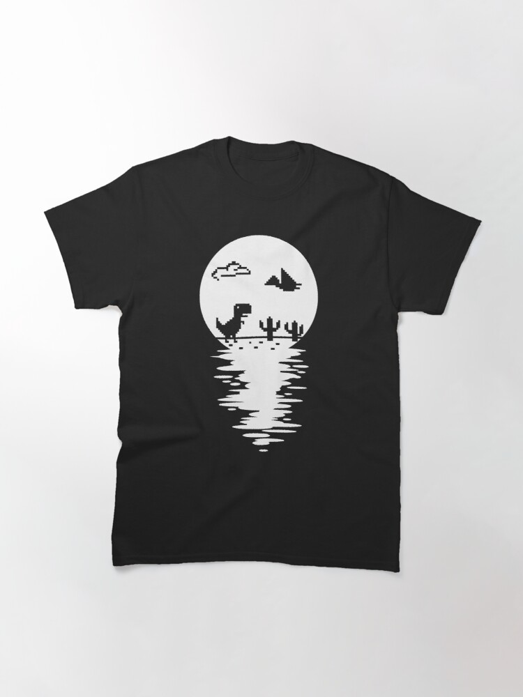 Alternate view of Mysterious T Rex Offline Full Moon Water Reflection Classic T-Shirt