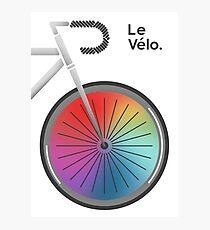 Le Velo Blanc Photographic Print
