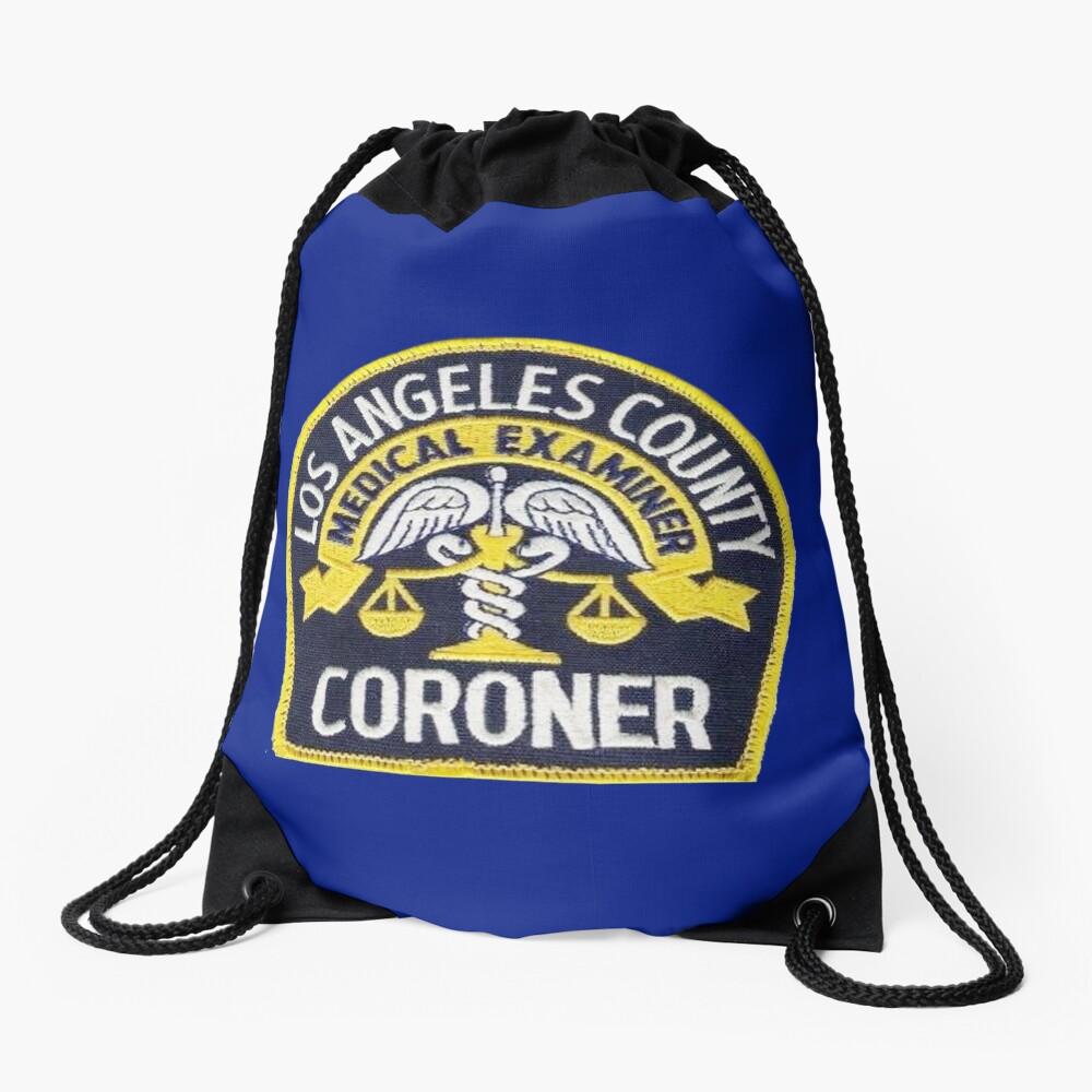 Los Angeles County Coroner Drawstring Bag