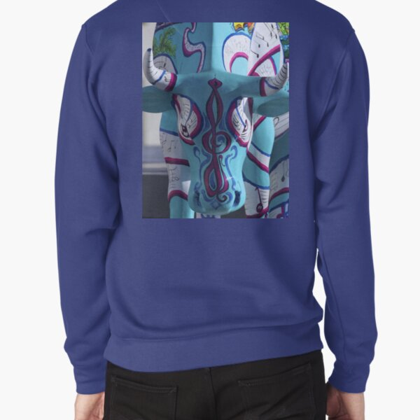 Painted Cow by Cathedral Youth, Ebrington Square Derry Pullover Sweatshirt