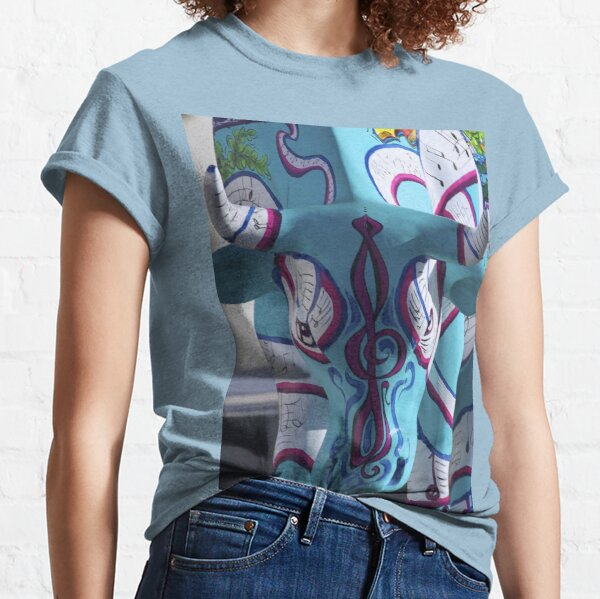 Painted Cow by Cathedral Youth, Ebrington Square Derry Classic T-Shirt