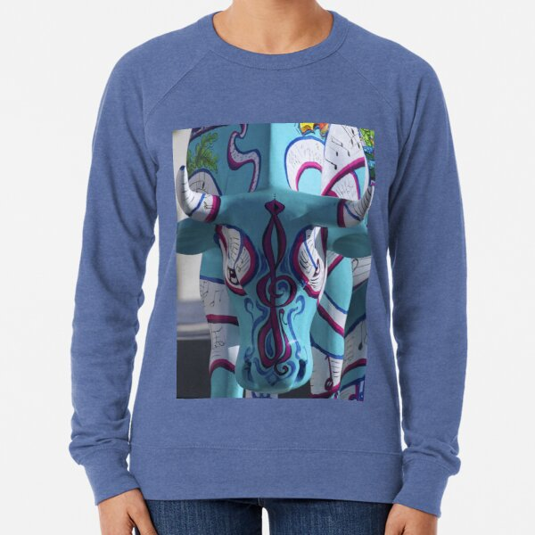 Painted Cow by Cathedral Youth, Ebrington Square Derry Lightweight Sweatshirt