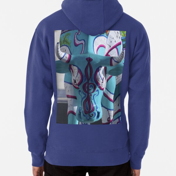 Painted Cow by Cathedral Youth, Ebrington Square Derry Pullover Hoodie