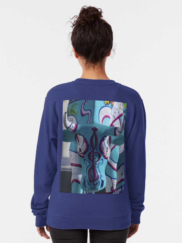 Alternate view of Painted Cow by Cathedral Youth, Ebrington Square Derry Pullover Sweatshirt
