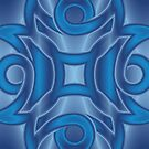 Blue on Blue Silk by Kinnally