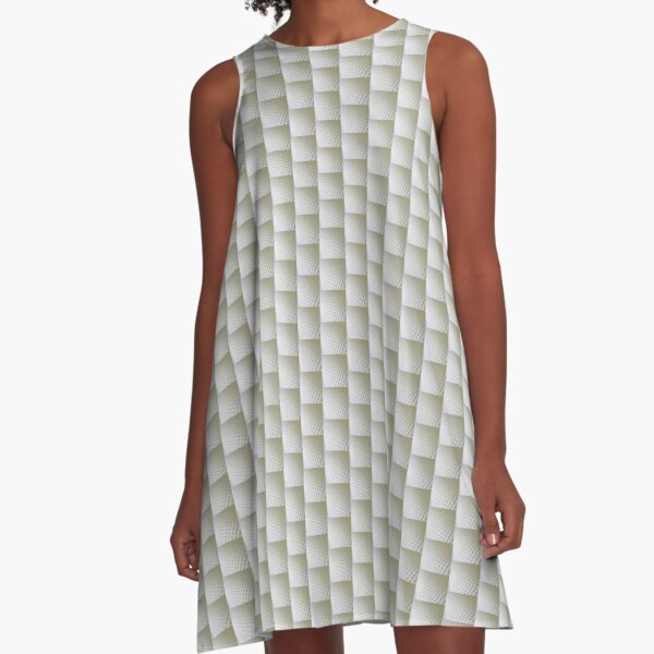 White on white A-Line Dress