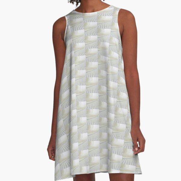 White in white A-Line Dress