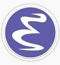 Emacs logo Sticker