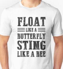 Float wie ein Schmetterling Sting wie eine Biene Slim Fit T-Shirt