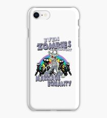 Zombies Support Marriage Equality iPhone Case/Skin