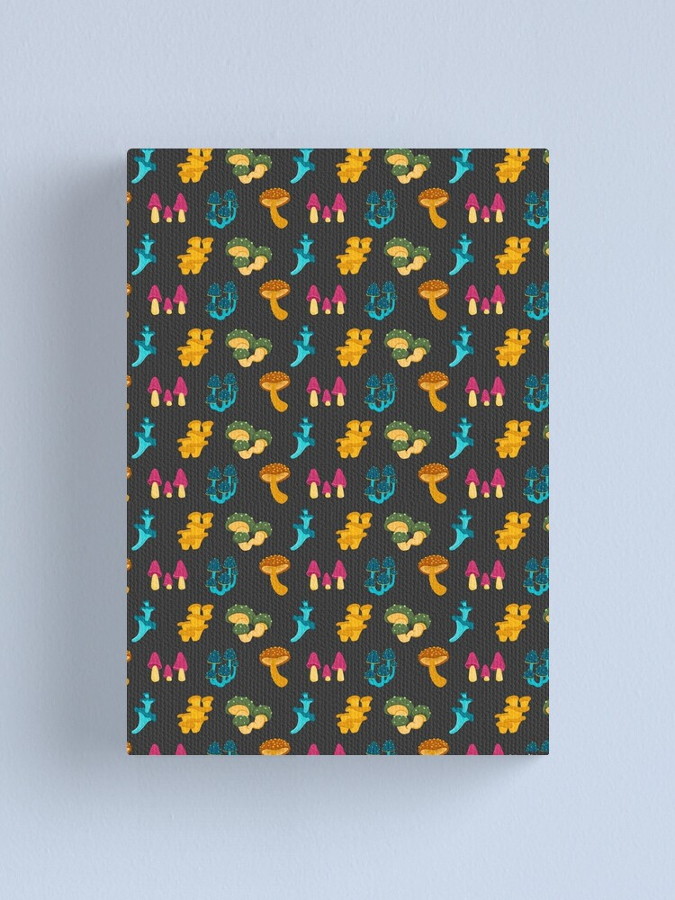 Alternate view of Colorful Mushrooms Pattern Canvas Print