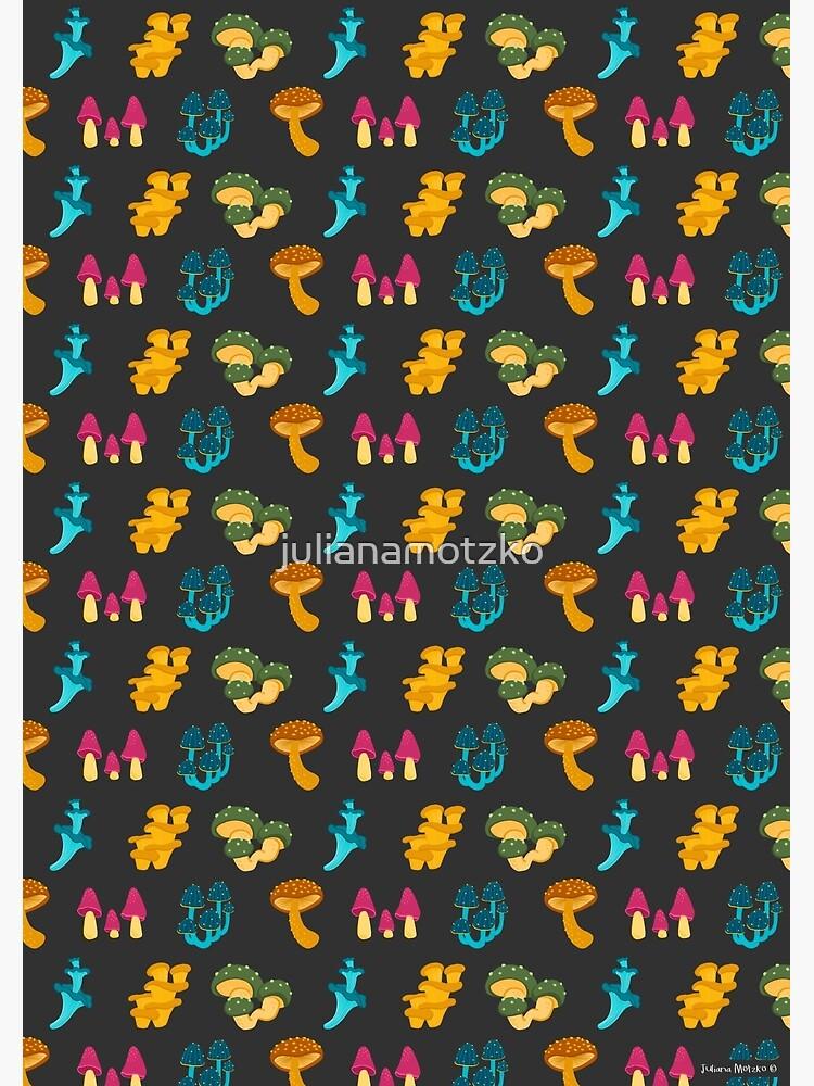 Colorful Mushrooms Pattern by julianamotzko