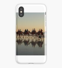 Cable Beach Camel Reflections (View Large) iPhone Case