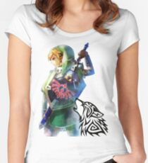 Zelda Link with Wolf Women's Fitted Scoop T-Shirt