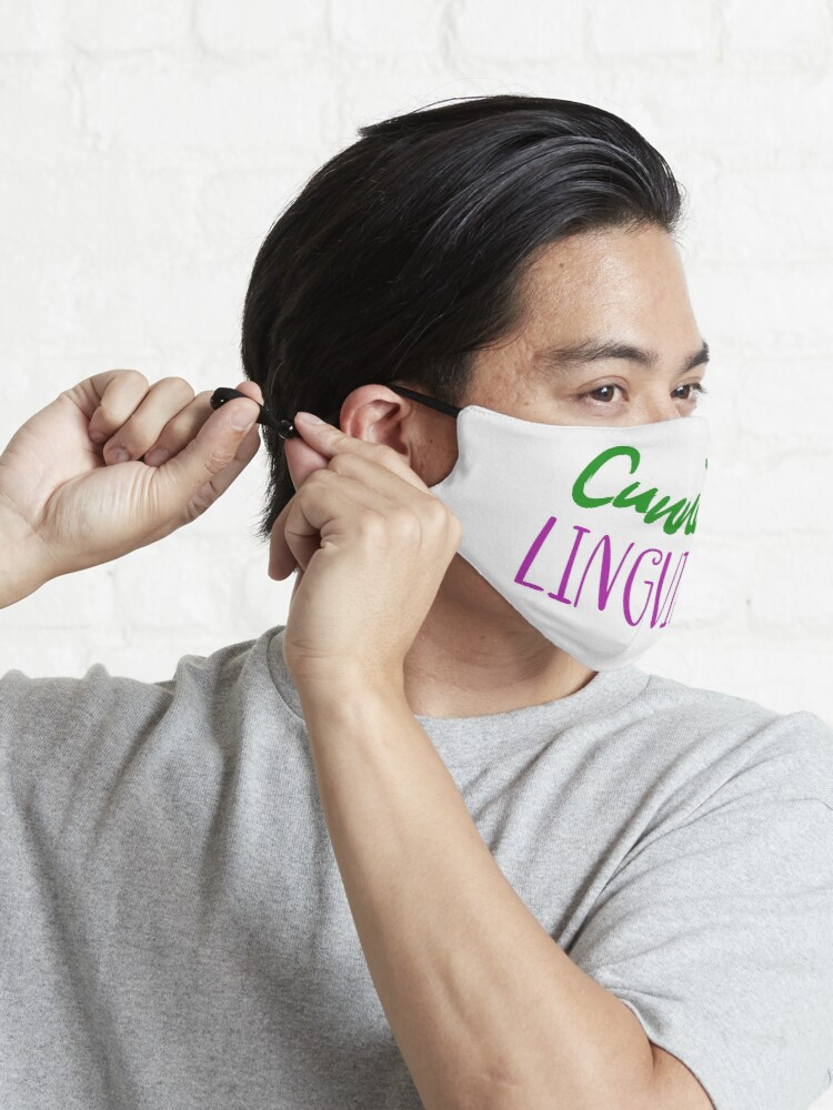 Alternate view of Cunning linguist: a cheeky lesbian wordplay joke Mask