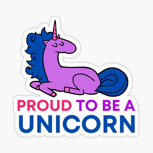 Proud to be a Unicorn (bisexual) Sticker