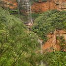 Wentworth Falls from a distance by Michael Matthews