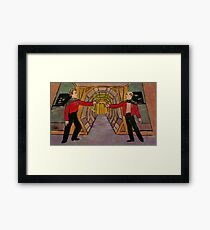 Q and Picard Framed Print