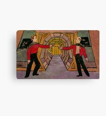 Q and Picard Canvas Print