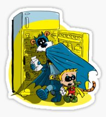 Calvin And Hobbes : Freezer Sneakers Sticker