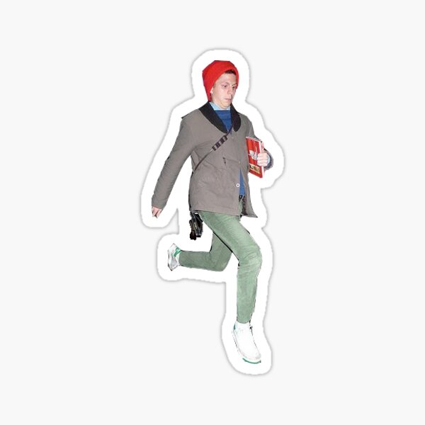 michael cera jumping Sticker
