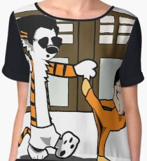 Calvin And Hobbes : Kungfu Master Women's Chiffon Top