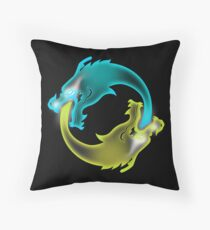Two Dragons, two Brothers Throw Pillow
