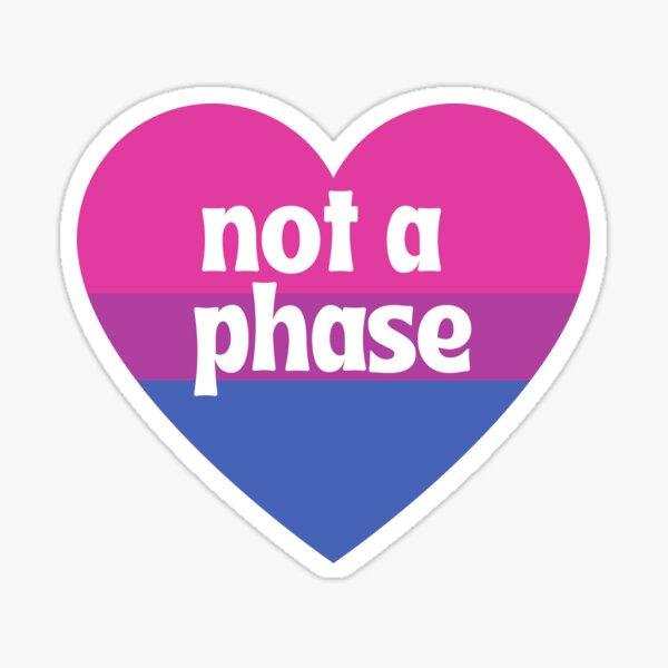 Not a Phase - Bi Heart Sticker