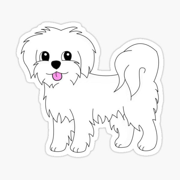Lily the Maltese Sticker