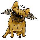 French Bulldog Angel 2 by Liddle-Ideas