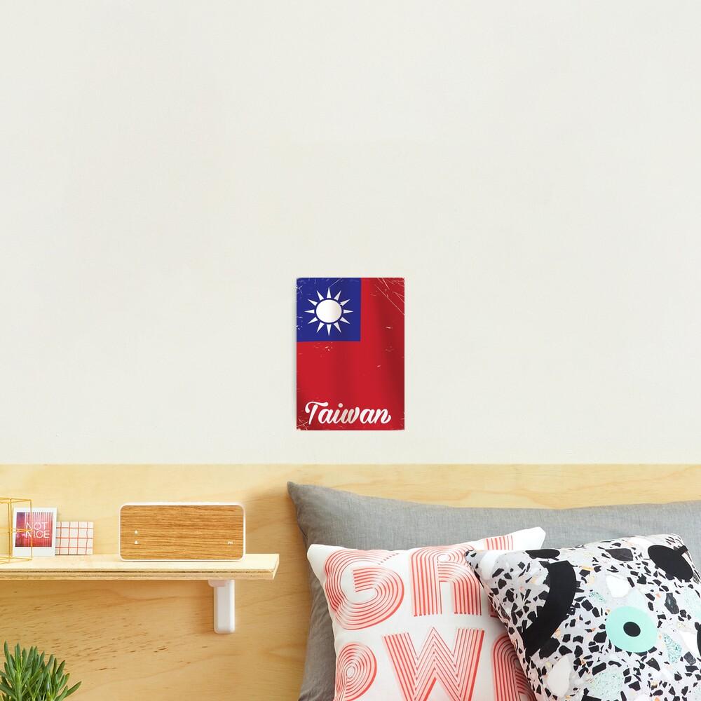 Taiwan National Flag Travel poster  Photographic Print